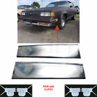 81-88 Cutlass Lower Fender Chrome Molding Trim (FRONT of Tire) PAIR with CLIPS