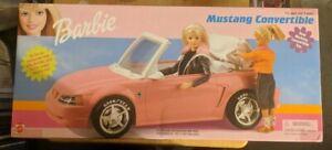 Mattel 1999 Barbie Mustang Convertible Working Top Goodyear Tires Sealed