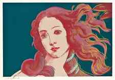 Andy Warhol Botticelli Birth of Venus print canvas 8x12&12x17 art reproduction