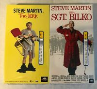 The Jerk & Sgt. Bilko 2 VHS Lot with Steve Martin Brand New Factory Sealed