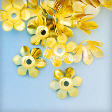 Approx 20-30Pcs Iron Flower Bead Caps 13x13mm DIY Crafts Jewelry Findings Making
