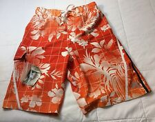 Zero Exposure Men's Swim Trunks Shorts Orange Size Small