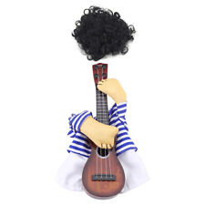 Funny Pet Dog Cat Costume Guitar Player Puppy Dress Halloween Christmas Party