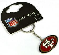 San Francisco 49ers NFL Crest metal / enamel Keyring Licensed (bb)