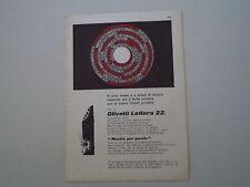 advertising Pubblicità 1959 OLIVETTI LETTERA 22