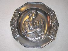 rare WMF art nouveau deco wall platter figure 1900 1910 silverplated Jugendstil
