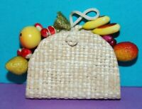 Barbie SUBURBAN SHOPPER STRAW PURSE Fruit #969 (1959) Vintage Reproduction Repro