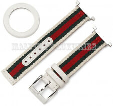 $195 GUCCI YFA50033 STRAP BAZEL KIT FOR MEDIUM U-PLAY WATCH WEB NYLON LEATHER