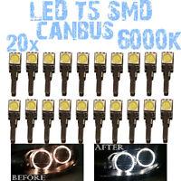 N° 24 LED T5 6000K CANBUS SMD 5050 Lumières Angel Eyes DEPO FK BMW X5 E53 1E3 1D