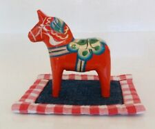 "Small vintage 7cm 2¾"" Akta Dalahemslojd Swedish Dala Horse red"
