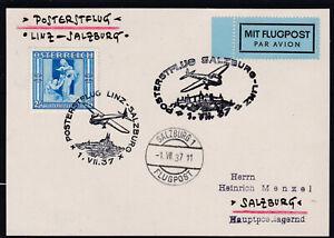 Posterstflug von Linz nach Salzburg 1937