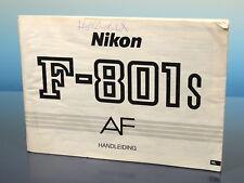 Nikon F-801s AF Handleiding instruction NL 87 zijden - (200189)