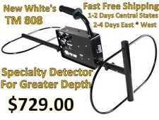 New Whites Tm 808 Metal Detector Deep Detection on large objects Fast Shipping