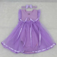 Purple Romper Dress Headband Clothes for 22''-23'' Reborn Baby Girl Dolls