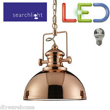 SEARCHLIGHT 2297CO LED 5.9W LIGHT INDUSTRIAL PENDANT COPPER CLEAR ACRYLIC LENSE