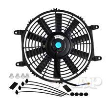 "1X 9"" Slim/Thin 12V Push/Pull Electric Radiator/Cooling Fan Black+Mounting Kit"
