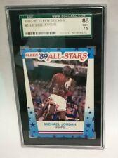 1989 Fleer Sticker #3 Michael Jordan Bulls HOF SGC 86 similar to PSA 7.5 NM+