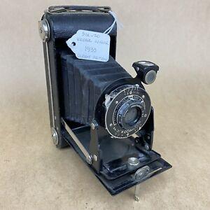 620 Kodak Junior 1933 Folding Camera W/ 100mm 6.3 Made In Great Britian