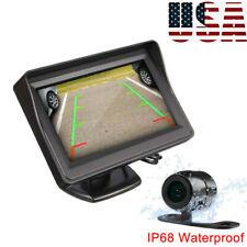 4.3'' Night Vision Reverse Parking Backup Camera Car Rear View LCD Monitor Kit