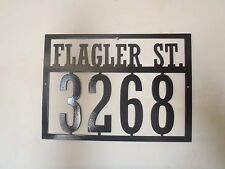 House Number and Street name Address Sign, Metal Art