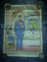 """Affiche couleur - imagerie """"le journal"""" 1940 - Maréchal Philippe PETAIN -42x39cm"""