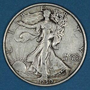1939-S United States 50 Cents coin, Walking Liberty Half Dollar, Circulated