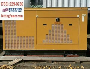 75kW Olympian CAT Stationary Natural Gas Generator G75F1S 480V   S/N: E7095A/002