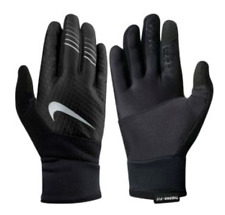 $67 NIKE MEN BLACK GRAY THERMA FIT ELITE 2.0 TOUCH ATHLETIC SPORT RUN GLOVES S