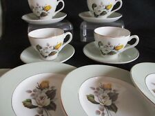 Vintage  RETRO W H Grindley tea cups and saucers, plates x 4 yellow rose design