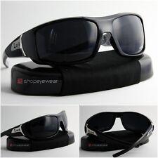 MEN's Sunglasses Eyewear Black Shades Urban Bikers Locs Style Frame w Dark Lens