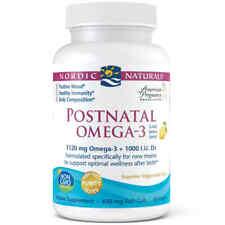 NORDIC NATURALS Postnatal Omega3 (EPA DHA + Vit D3) 60 FREE WORLDWIDE SHIPPING