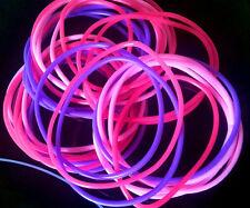 **24 x Neon Pink, Dark Pink & Purple* RUBBER GUMMY BRACELETS BANDS**80s 90s
