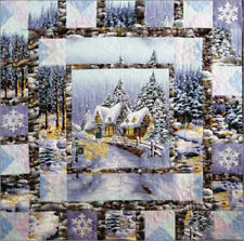 9 yards panels SNOW CHATEAU FABRIC Fairy Frost Michael Miller Snowy Woods