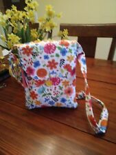 Free Shipping -Floral Print Cross Body./Shoulder Bag w/zip 352