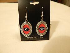 Georgia Bulldogs Oval Earrings