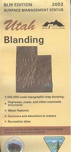 USGS BLM edition topographic map Utah BLANDING 2002