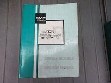 New listing 1991 Gmc Sierra Models Truck Pick-up Shop Service Manual Oem X-9131 Book