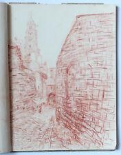 SUZANNE CAPPIELLO CAHIER DE CROQUIS 1940 Paysages centre France dont LE PUY