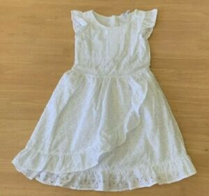 Girls size 4 TARGET White Cotton Summer Party dress *NEW* RRP $30