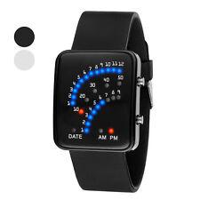 Fashion Women Mens Futuristic Style Silicone Multicolor LED Sport Wrist Watch UK