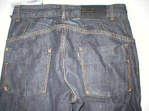 New Mens Designer CNC Costume National Slim Jeans Dark 29 X 33 NWT Raw Denim