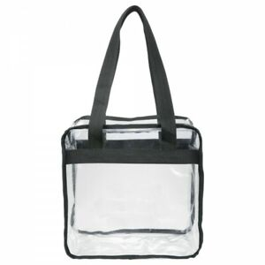 Clear Stadium Tote Bag with Zipper 12x12x6 NFL Stadium Approved