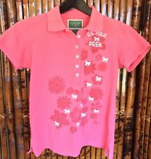 US Polo Assn. Women's Polo Shirt Short Slevees Pink Large