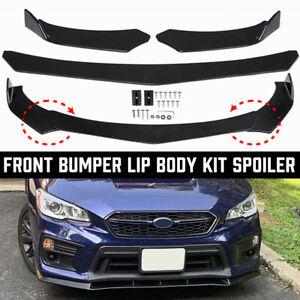 Gloss Black Front Bumper Lip Body Kit Splitter For Subaru WRX STI Impreza BRZ