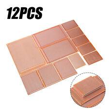 12pcs Prototyping Board PCB Printed Circuit Prototype Breadboard Stripboard USA