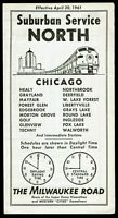 ⫸ 561 Milwaukee Road Chicago Suburban Service North Schedule 4-30-1961