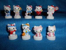 HELLO KITTY SPORTS Set 9 Mini Figurine French Porcelain FEVES SANRIO Figures '13