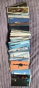 150+ airline Retro  postcards