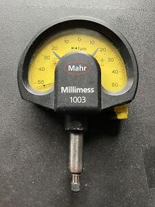 Mahr Feinzeiger ± 50µm 0,001mm, 1 µm Messuhr micron Millimess 1003