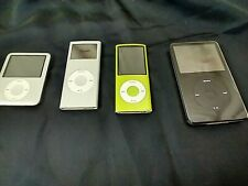 Lot Of 4- Apple iPods-Shuffle-Classic-For Parts Or Repair